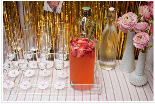 drink display from a wedding shower via Heart of Life