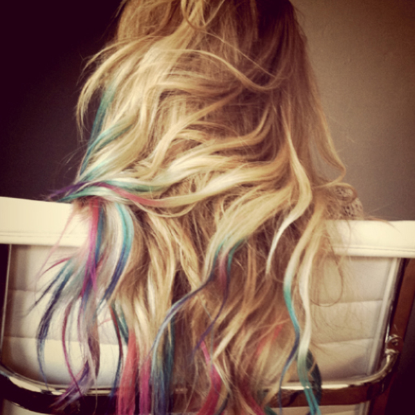 Lauren Conrad pastel hair