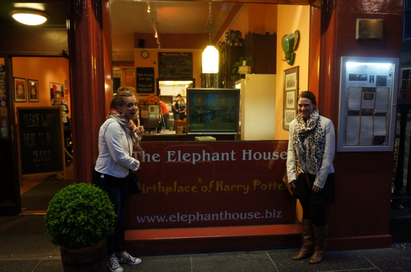 the Elephant House, where Harry Potter was written
